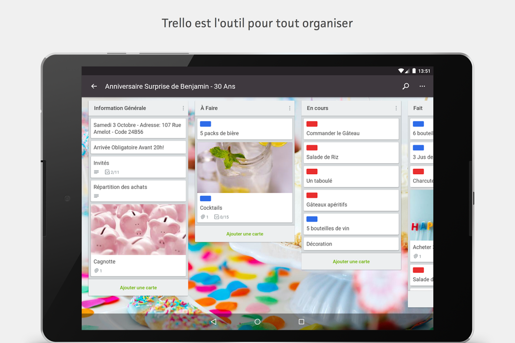 Capture n°6 de Trello