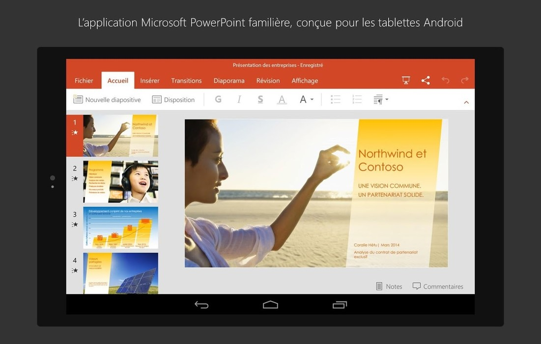 Capture n°7 de PowerPoint Online