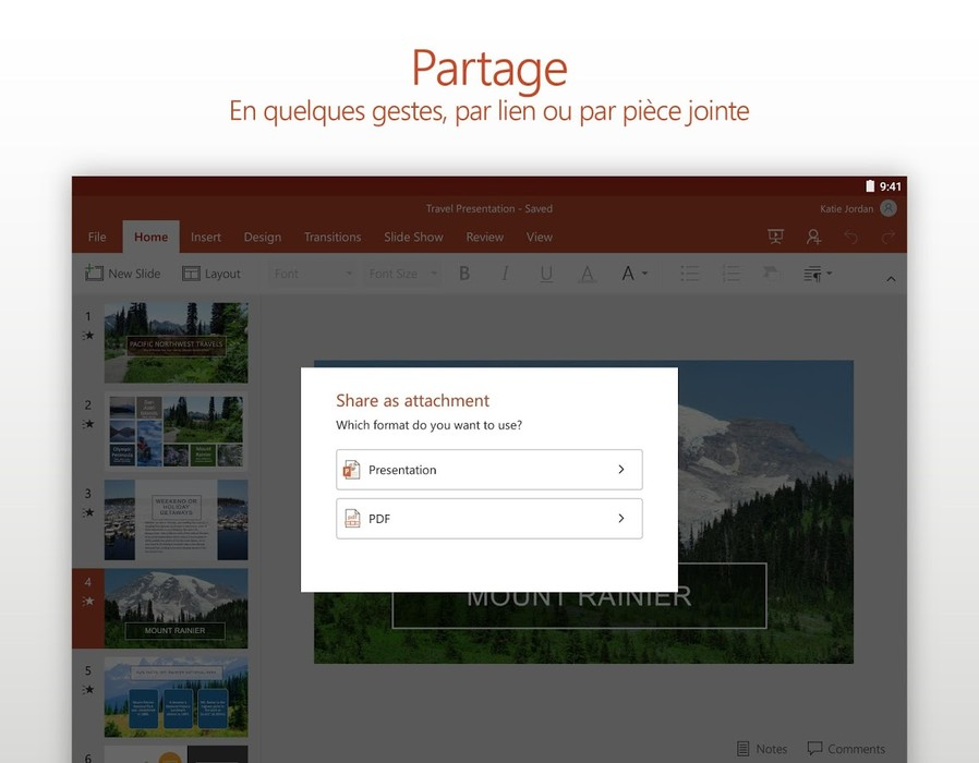 Capture n°9 de PowerPoint Online